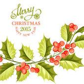 Christmas mistletoe brunch. — Stock Vector