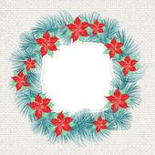 圣诞花环. — 图库矢量图片
