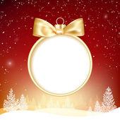 Złotą piłkę bożego narodzenia. — Wektor stockowy