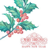 Christmas mistletoe. — Stock Vector