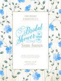 Bridal Shower invitation. — Stock Vector