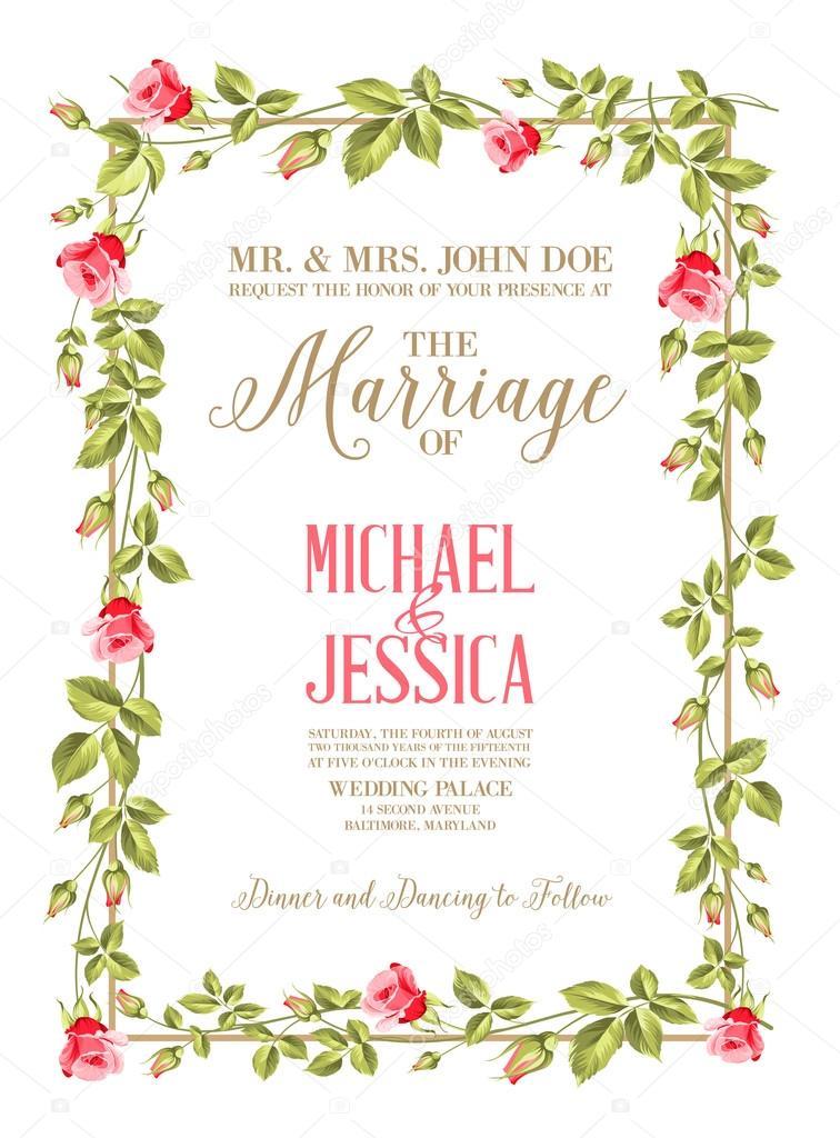 Marriage card. — Stock Vector © Kotkoa #61554185
