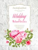 Tarjeta de boda. — Vector de stock
