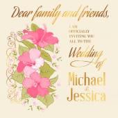 Marriage invitation card — Stock Vector