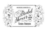 Bridal shower invitation card — Wektor stockowy