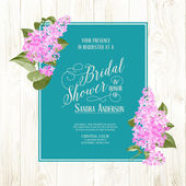 Bridal shower card. — Stock Vector