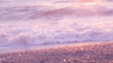 Defocused Blurred Sea. — Stock Video