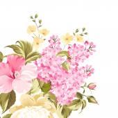 Spring syringe flowers — Stock Vector