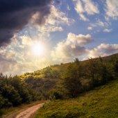 Morning walks at sunset — Stock Photo