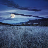 Field near home in mountains at night — Stock Photo
