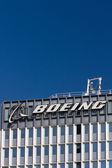 Boeing Manufacturing Facility and Logo — Foto de Stock