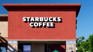 Starbucks Coffee Sign — Stock Video