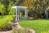 Garden Trellis and Path  — Stock Photo