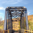 Railroad Bridge Over Iron Horse Trailhead — Stock Photo #58173703