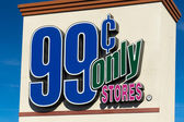 99 Cents Only Stores Sign and Logo — Stock Photo