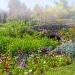 Formal Garden in Early Morning Fog — Stockfoto #65627715