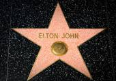 Elton John Star on the Hollywood Walk of Fame — Stock Photo