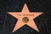 Tim McGraw Star on the Hollywood Walk of Fame — Stock Photo