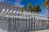 Urban Light Sculpture Los Angeles County Museum of Art — Stock Photo