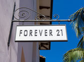 Forever 21 Store and Sign — Stock Photo