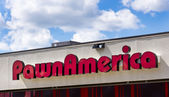 PawnAmerica Exterior and Sign — Stock Photo