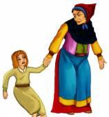 Personnage de dessin animé de contes de fées — Photo