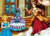 Cartoon fairy tale scene for different stories — Stock Photo