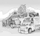 Vehicles on the road — Stock Photo
