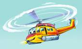 Colored helicopter — Stock Photo