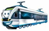 Gekleurde trein — Stockfoto