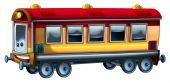 Colored train — Stock Photo