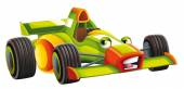 Cartoon car - track racing vehicle — Stock Photo