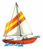 Colored boat — Stock Photo