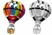 Coloring page - balloon — Stock Photo