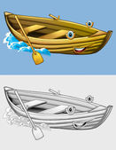 Coloring page - boat — Stock Photo