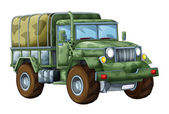 Cartoon military truck — Stockfoto