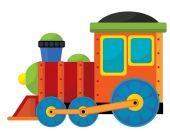 Tren de dibujos animados — Foto de Stock