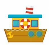 Cartoon boat — Stock Photo