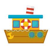 Barco de dibujos animados — Foto de Stock