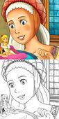 Cartoon fairy tale scene — Stock Photo