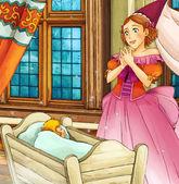 Cartoon fairy tale scene — Stockfoto