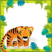 Tiger in Cartoon frame — ストック写真