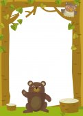 Bear in nature frame — Stock Photo