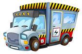 Kreskówka samochód - energii elektrycznej — Zdjęcie stockowe