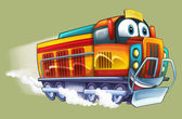 Cartoon electric train — Stock Photo