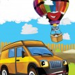 The car and the balloon — Stock Photo #70984517