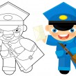 Постер, плакат: Cartoon character postman