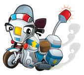 Cartoon motorcycle - caricature — Stock Photo