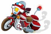 Cartoon motorcycle - caricature — Stok fotoğraf