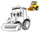 Cartoon excavator — Stock Photo